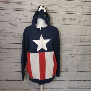 Marvel Captain America Zip Up Hoodie